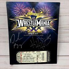 WWE WrestleMania 30 XXX HHH Daniel Bryan Autograph 8 x 10 Ticket Stub WWF