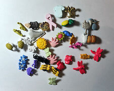 Clearance Sale Lot 38 new pieces Mix Scrapbooking Sewing Plastic Buttons
