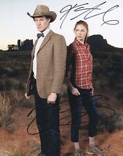 MATT SMITH & KAREN GILLAN SIGNED DOCTOR WHO PHOTO AMY POND & THE DOCTOR