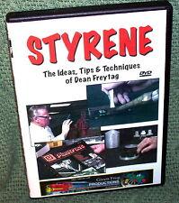 "cp082 MODEL RAILROAD VIDEO DVD ""STYRENE"" TIPS & TECHNIQUES W/ FREYTAG"