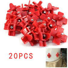 20 Pcs Horizontal Poultry Water Nippl Chicken Waterer Red Chicken Nipples