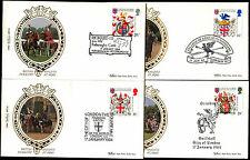 GB 1984 Heraldry, Benham Silk FDC Set #C39241