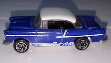 Matchbox 1955 Chevy Bel-Air Hardtop #73 1/64 Diecast Car blue/white Loose Car