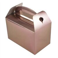 Metallic Rose Gold Pack of 6 Party Boxes Birthday Hen Wedding Gifts Food