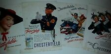 1938/1939 Two Sided Chesterfield Cigarette/USS Navy Ship Ads