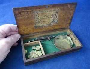 Antique Georgian Cased Coin Balance by Moffett & Blackburn + Weights