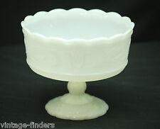 Vintage E. O. Brody Milk Glass Vase Footed Pedestal Base M6000 Cleveland OH USA