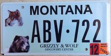 WILDLIFE Grizzly Bear Wolf license plate Bears Wolves Wild animal National Park