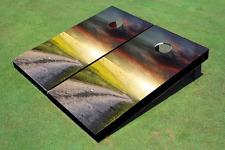 Colorful Road Custom Cornhole Board