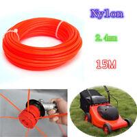 *Strimmer Line Nylon Cord Wire Round String Petrol Grass Trimmer Parts 15m*2.4mm
