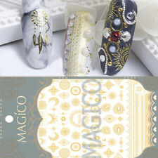 Charming Adhesive 3D Nail Art Stickers Dreamcatcher Moon Star Gold Decals Decor