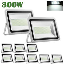 10X 300W Watts Outdoor Led Flood Light Cool White High Power Spotlights Ac110V