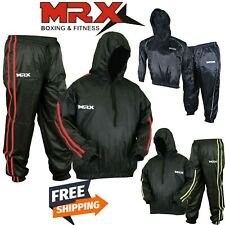 Mens Sauna Suit Heavy Duty Sweat Track Weight loss Slimming Boxing Gym Tracksuit