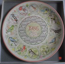 Wedgwood Large Collectors Plate GARDEN BIRDS 1986 SIXTEENTH SERIES