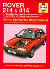 Rover 214 and 414 (89-96) Service and Repair Manual (Haynes Service and Repair,