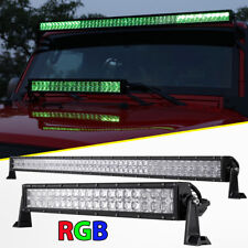 """52inch 1000W+22"""" 400W RGB Led Light Bar MultiColor Offroad Fit Jeep Ford SUV 50"""""""