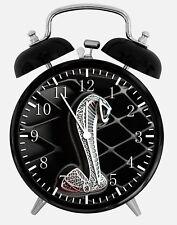 "Cobra GT Mustang Alarm Desk Clock 3.75"" Home or Office Decor W181 Nice For Gift"