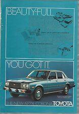 1977 TOYOTA CORONA advertisement, Toyota Corona sedan ad, 1977 1/2