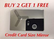 Credit Card Size Mirror - Compact Wallet Makeup Travel Pocket Purse - Adhesive