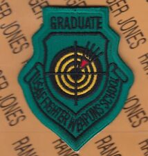 USAF Air Force Graduate Fighter Weapons School FWS green patch
