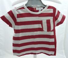 KITCHOUN Tee-shirt manche courte beige bordeau  bébé garçon 6 mois