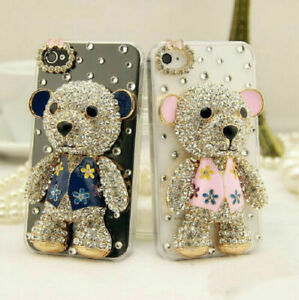 Luxury Bling Diamond Crystal Bear Case Cover for iPhone 12 Pro Max 11 XS XR 7 8+