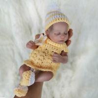 "10"" Full Body Silicone Vinyl Reborn Baby Doll Waterproof Bath Mini Accompany Toy"