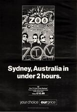 "NEWSPAPER CLIPPING/ADVERT 9/4/94PGN21 15X11"" U2 : ZOO TV LIVE FROM SYDNEY ALBUM"