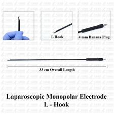 Laparoscopic Monopolar Electrode L Hook 33 Cm 4 Mm Banana Plug Laparoscopy