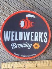 WELDWERKS BEER BREWING BREW STICKER Greeley Colorado Brewery decal Weld works CO