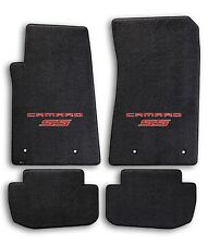 2010-2015 Chevrolet Camaro 4pc Black Carpet Floor Mats w Red SS Logo on Fronts