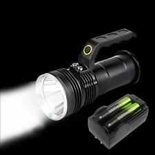 8000LM 3-Mode CREE T6 LED Flashlight Searchlight Torch +18650 Battery Charger TR