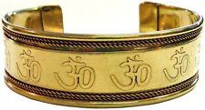 Adjustable OM Sign Engraved Copper Bracelet (Pagan Wicca) FREE SHIPPING