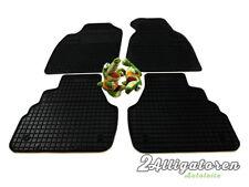 4 x Gummi-Fußmatten ☔ für AUDI A6 C5 1997 - 2004 + Befestigungs-Clips
