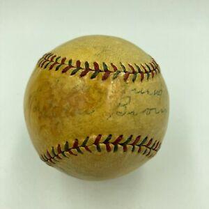 "Extraordinary Mordecai ""Three Finger"" Brown Single Signed 1920s Baseball JSA COA"