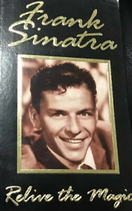 Relive The Magic  by Frank Sinatra VHS Vintage Two VHS In Set Hollywood Legend