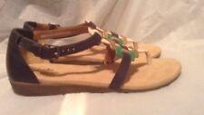 New Clarks Navy Blue/Gold/Green Women's Sandals US size 9.5 M 26069314