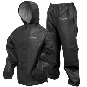 Frogg Toggs, Pro Lite Rain Suit with Pockets, Carbon Black, M/L, XL/XXL
