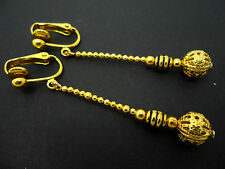 Dangly Clip On Earrings. New. A Pair Of Pretty Gold Colour