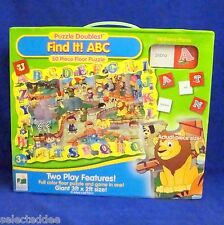 Find It ABC Giant Floor Puzzle 3ft x 2ft 50 Pieces Ages 3 Plus Learning Journey