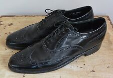 Vtg FLORSHEIM Imperial WINGTIPS Mens 11.5 AA Black Leather OXFORD Dress Shoes