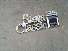 1976-80 GMC SIERRA CLASSIC 35 FENDER EMBLEM 76 77 78 79 80 RARE 1 TON
