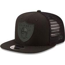 New Era Oakland Raiders Black Mesh Fresh Tonal 9FIFTY Adjustable Snapback Hat