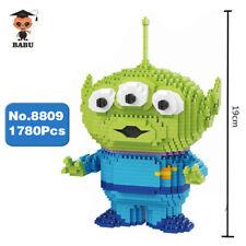 Babu Cartoon Toy Story Alien Green Monster Diamond Mini Building Nano Blocks Toy