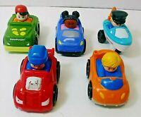 Lot 5 Fisher Price LITTLE PEOPLE Wheelies Cars