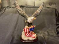 Patriotic Eagle Statue Sculpture American Spirt (Used Retired) (See Photos)