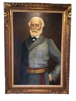 Mark Meloy Original_O/C Signed_Portrait_General Robert E Lee_Framed_SHIPS FREE