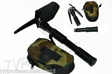 Camping Mini Tool Black Folding Shovel Pick Axe Collapsible Spade Entrenching