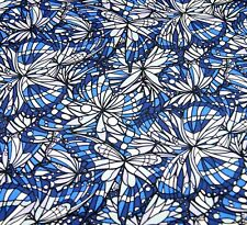 Liberty Belgravia Silk Satin fabric  Blue Jewel