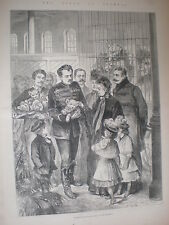 Queen Victoria at Circus Olympia Kensington London meeting lion cubs 1887 print